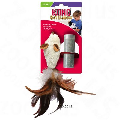 KONG Feather Mouse with Catnip