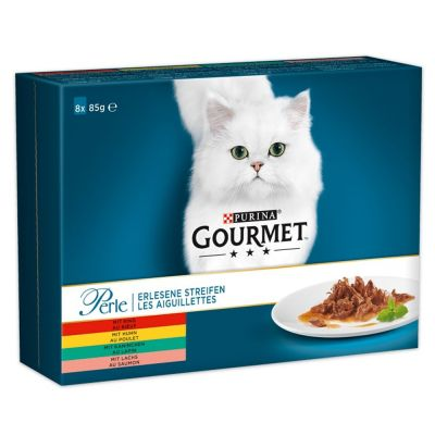 8 x 85g Gourmet Perle Delicate Fillets Wet Cat Food