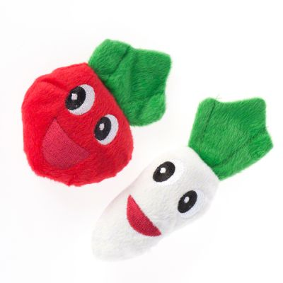 2 Catnip Veggies Cat Toys