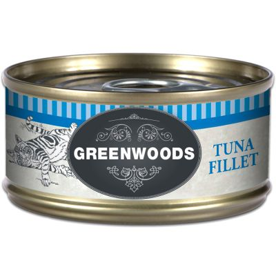6 x 70g Greenwoods Adult Cat Food – Tuna