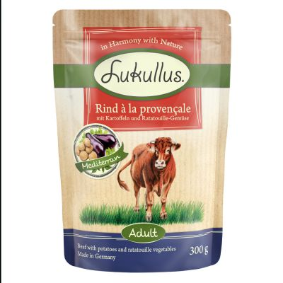 6 x 300g Lukullus Natural Grain-free Pouches Mixed Pack