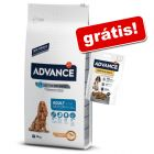 Advance 7,5 kg a 14 kg + snack Advance Sensitive grátis!
