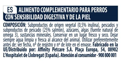 Advance Sensitive snacks para perros