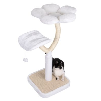white flower arbre chat zooplus. Black Bedroom Furniture Sets. Home Design Ideas