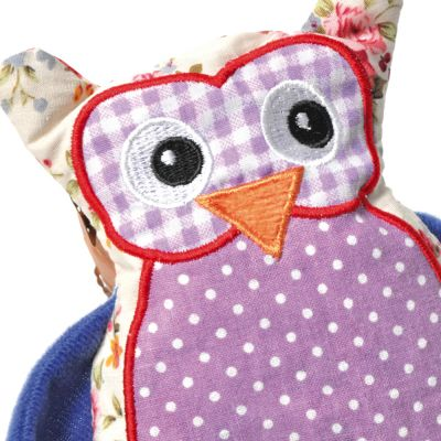 Aumüller Patchwork Owl Cat Toy with Valerian