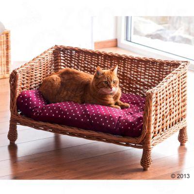 ... Aumüller Wicker Dog U0026 Cat Sofa ...