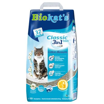 Biokat's Classic Fresh 3in1 Cat Litter – Cotton Blossom Scent
