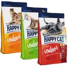 Blandet pakke: 3 x 4 kg Happy Cat Indoor Adult