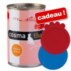 Boîtes Cosma 12 x 400 g + 2 couvercles Trixie offerts !