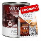 Boîtes Wolf of Wilderness 24 x 800 g + croquettes Soft Wide Acres, 1 kg