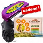 Brosse FURminator + lot mixte IAMS Naturally Cat Adult 12 x 85 g offert !