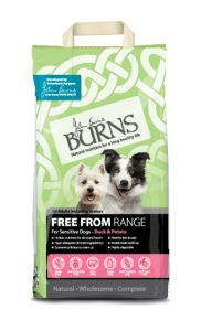 Burns Free From Adult Dry Dog Food – Duck & Potato