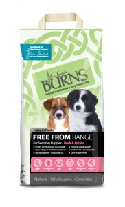 Burns Free From Puppy Dry Dog Food – Duck & Potato