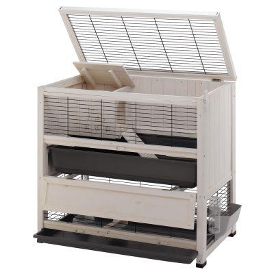 d812e5389946fb ... Cage en bois Indoor Home pour lapin et cochon d Inde ...