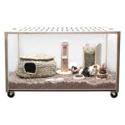 Cage Living World Green Eco Habitat pour rongeur et lapin