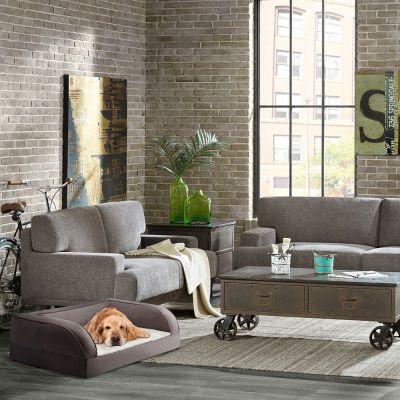 canap orthop dique gris pour chien zooplus. Black Bedroom Furniture Sets. Home Design Ideas