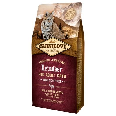 Carnilove Adult Energy and Outdoor, renne pour chat