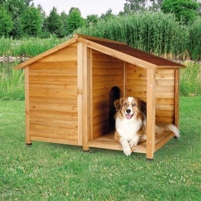 Caseta Para Perros Trixie Natura Con Terraza - Caseta-para-terraza