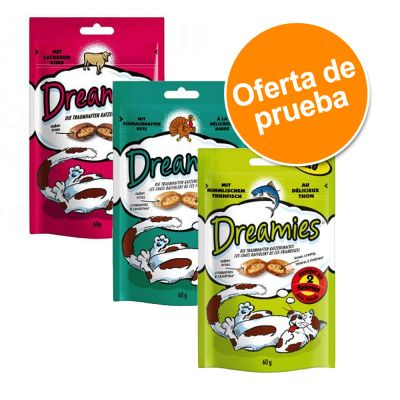 Catisfactions snacks para gatos 3 x 60 g - Pack de prueba mixto