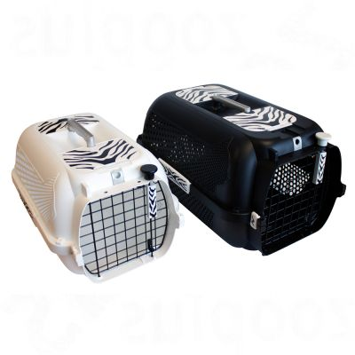 Catit Voyageur White Tiger Crate - Black