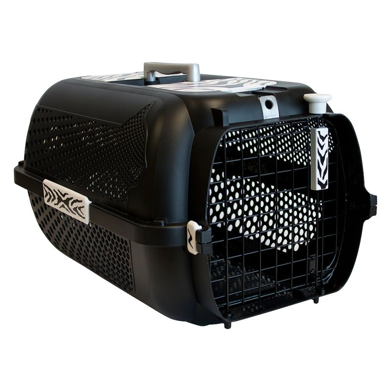 Catit Voyageur White Tiger Crate - Black