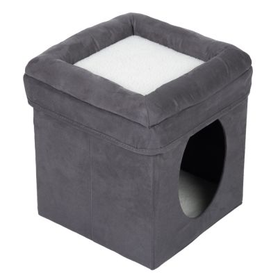 Collapsible Cube Cat Den