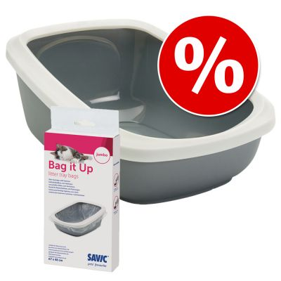 Combi Deal: Savic Kattentoilet Aseo XXL + Savic Bag it Up Litter Tray Bags