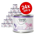 Concept for Life Veterinary Diet 24 x 200 g /185 g para gatos - Pack Ahorro