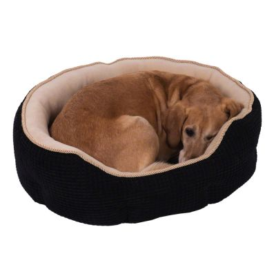 Cozy Kingdom Snuggle Bed - Black / Beige