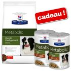 Croquettes Hill's Prescription Diet 12 kg + boîtes Metabolic Weight Management 2 x 354 g offertes !