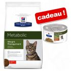 Croquettes Hill's Prescription Diet Metabolic Weight Management 8 kg + 4 boîtes offertes !