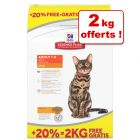 Croquettes Hill's Science Plan 10 kg + 2 kg offerts !