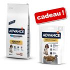 Croquettes Advance 7,5/12 kg + friandises Sensitive Snack 150 g offertes !