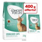 Croquettes Concept for Life 3 kg + 400 g offerts !