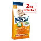 Croquettes Happy Cat Adult saumon de l'Atlantique 10 kg + 2 kg offerts !
