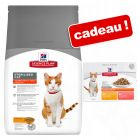 Croquettes Hill's Science Plan 8 / 10 kg + 12 x 85 g sachets offerts !