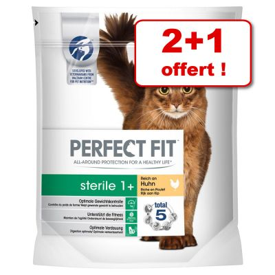croquettes perfect fit 2 x 750 g + 750 g offerts ! - zooplus