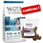 Croquettes Wolf of Wilderness 12 kg + 180 g de Bouchées Wolf of Wilderness