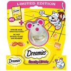 Dreamies s sirom 60 g + Snacky Mouse gratis!