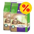 Dubbelpack Cat's Best Nature Gold / Smart Pellets kattsand