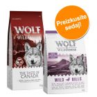 Dvojno-mešano pakiranje! 2 x 1 kg Wolf of Wilderness Adult suha hrana