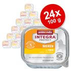 Ekonomipack: Animonda Integra Protect Adult Renal 24 x 100 g portionsform