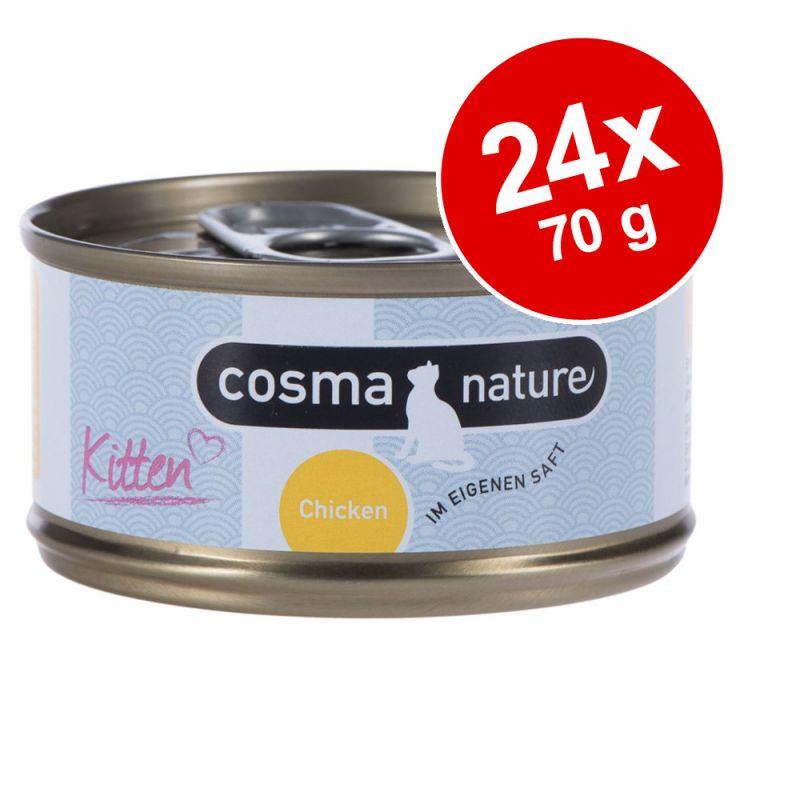 Ekonomipack: Cosma Nature Kitten 24 x 70 g