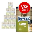 Ekonomipack: Happy Dog pure 12 x 400 g