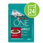 Ekonomipack: Purina One Adult 24 x 85 g