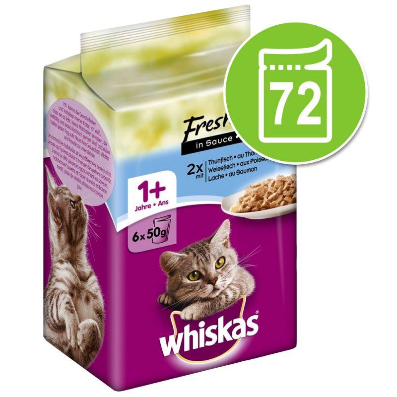 Ekonomipack: Whiskas Fresh Menue 72 x 50 g
