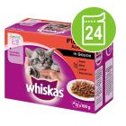Ekonomipack: Whiskas Junior portionspåse 24 x 85/100 g