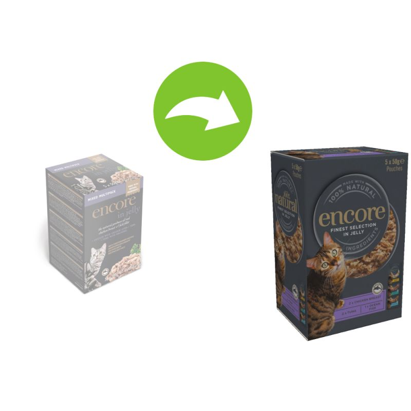 Encore Cat Jelly Pouch Multipack 5 x 50g