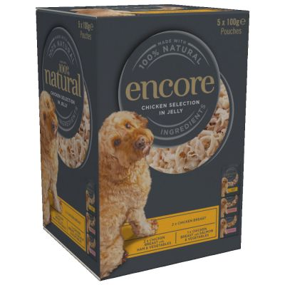 Encore Dog Jelly Pouch Multipack 5 x 100g