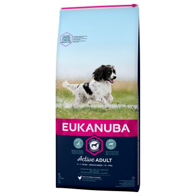 Eukanuba Active Adult Medium Breed poulet pour chien